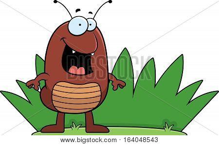 Cartoon Flea Grass