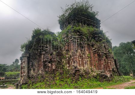 One of the brick temples of the My Son Sanctuary in Central Vietnam dating to the first millenium AD