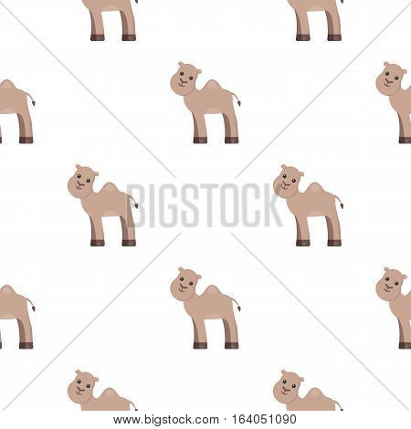 Camel cartoon icon. Illustration for web and mobile.