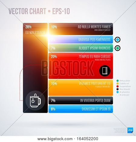 Infographics Chart Template . Useful For Presentations And Advertising.