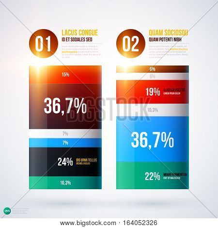 Infographics Chart Template On White Background. Useful For Presentations And Advertising.