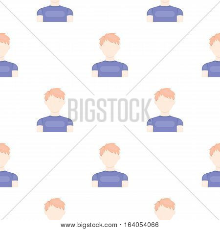 Redhead boy icon pattern. Single avatar, peaople icon from the big avatar pattern Stock vector