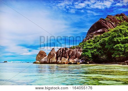 Anse Source d'argent La Digue island. The Seychelles