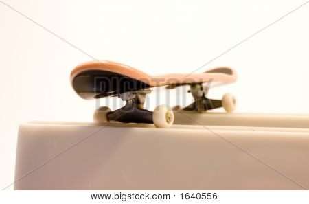 Skateboard Over Two Barrier