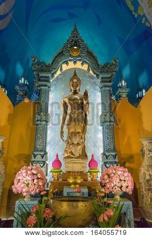 Thai Buddha Statue At Erawan Museum