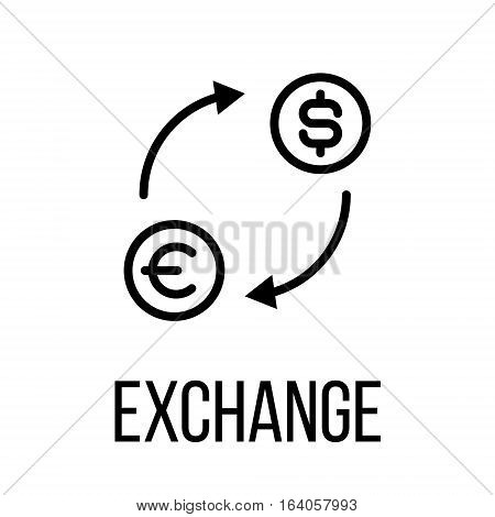 Exchange icon or logo in modern line style. High quality black outline pictogram for web site design and mobile apps. Vector illustration on a white background.