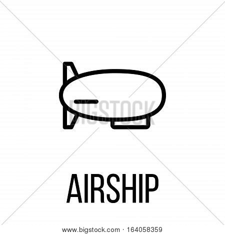 Airship icon or logo in modern line style. High quality black outline pictogram for web site design and mobile apps. Vector illustration on a white background.