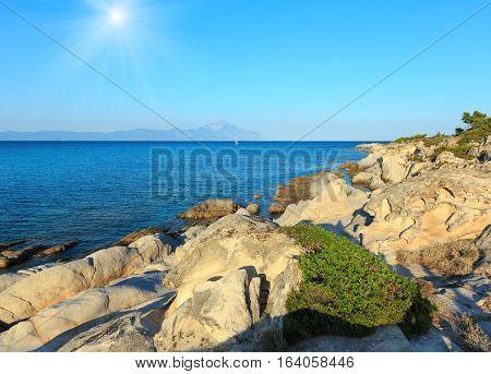 Sunshiny Sea Coast (chalkidiki, Greece).