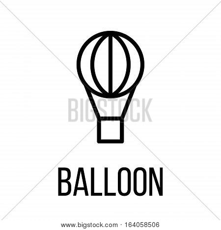 Balloon icon or logo in modern line style. High quality black outline pictogram for web site design and mobile apps. Vector illustration on a white background.
