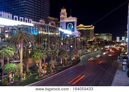 Motion of the Las Vegas Strip at night