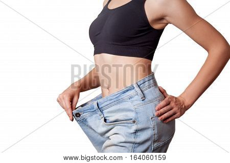 Diet Concept And Hanppy Woman