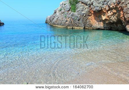 Summer Ionian Sea Coast, Albania.
