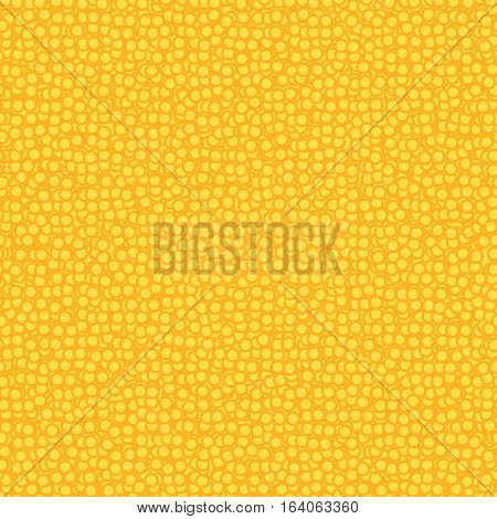 Chaotic yellow polka dots seamless pattern background, simple dotted vintage retro backdrop used for wrapping paper, texture, textile, scrapbooking