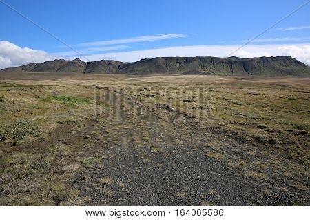 Gravel Road in the North of Iceland