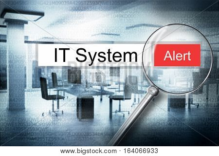 reading word it system browser search alert 3D Illustration