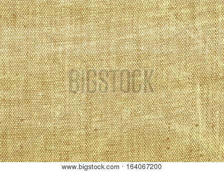 Beige light canvas ecru ivory jute burlap sackcloth texture background with space