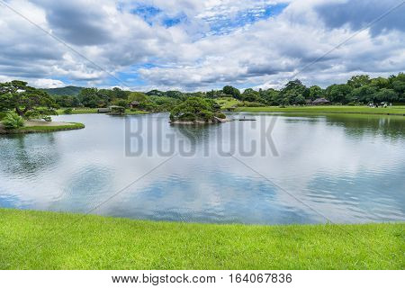 Korakuen Japanese garden in Okayama of Japan