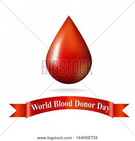 World Blood Donor Day. donor. vector illustration