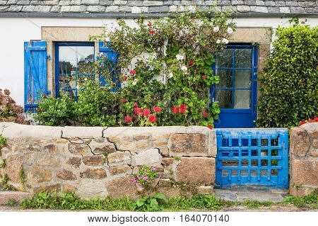 Old Building in Brittany near Ploumanach France.