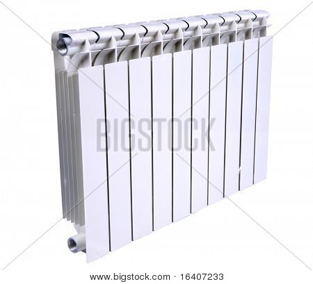 Radiator isolated over a white background poster