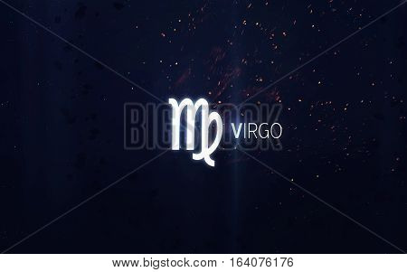 Zodiac sign - Virgo. Elements of this image furnished by NASA
