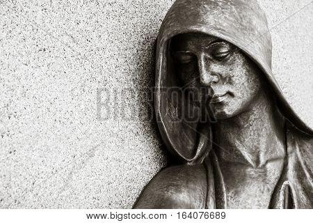 historic cemetery artwork on graveyard Pößneck, Germany