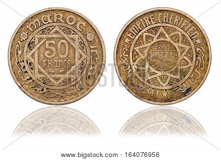 Coin of 50 francs. Morocco. 1952 (1371). French protectorate (1921-1959)