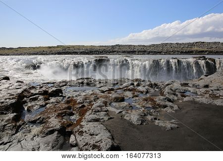 The Selfoss Waterfall in Iceland. Northern Europe