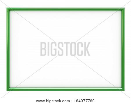 3d render of empty frame with place for yor text or image isolated over white background