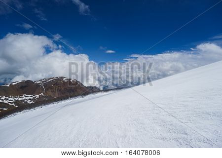 snow in the mountains. the Republic of Altai