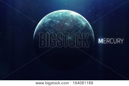 Mercury - High resolution beautiful art presents planet of the solar system. This image elements furnished by NASA