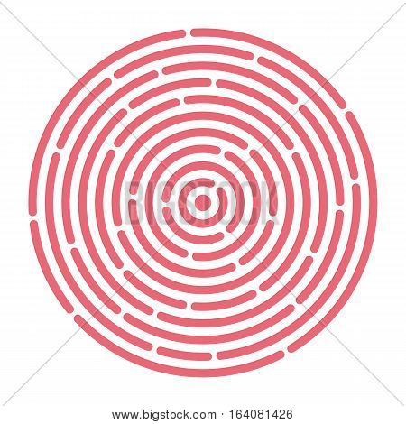 Abstract vortex. Ripple circular pattern. Vector illustration for design your website and print. Line in a circle concept.
