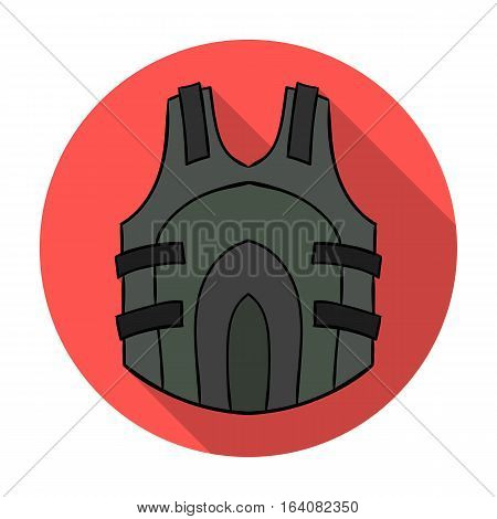 Paintball vest icon in flat design isolated on white background. Paintball symbol stock vector illustration.