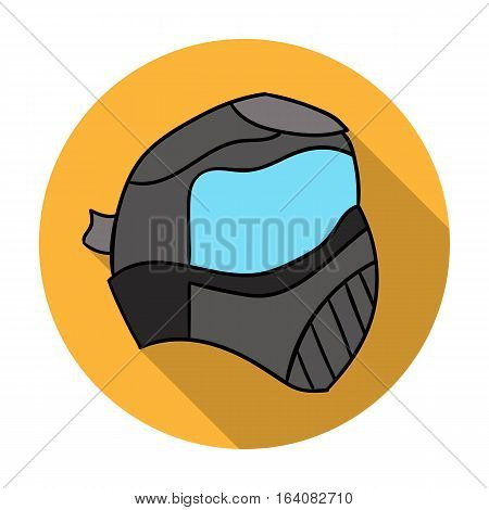 Paintball mask icon in flat design isolated on white background. Paintball symbol stock vector illustration.