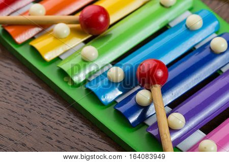 Rainbow colored toy xylophone, Children's Musical Instruments