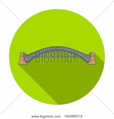 Sydney Harbour Bridge icon in flat design isolated on white background. Australia symbol stock vector illustration.
