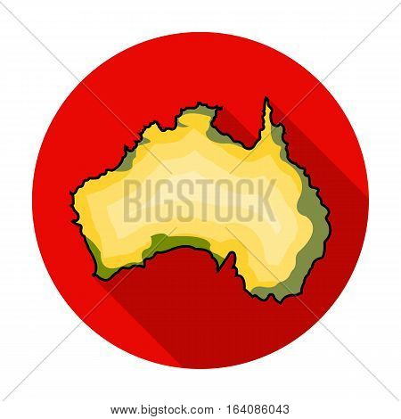 Territory of Australia icon in flat design isolated on white background. Australia symbol stock vector illustration.