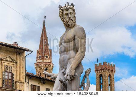 Statue of Neptune. Piazza della Signoria. Florence, Italy.