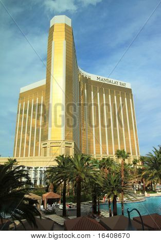 A daytime shot of the Mandalay Bay