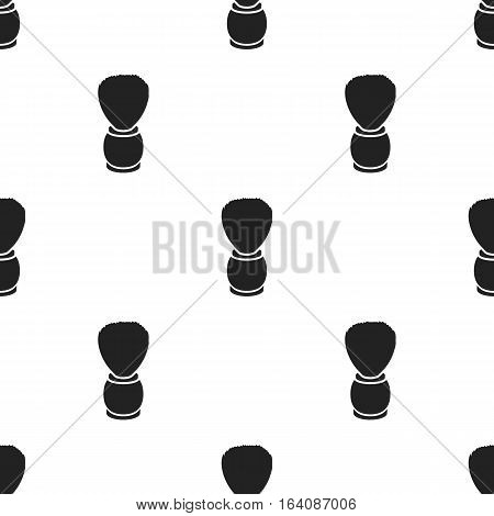 Shaving brush icon in black style isolated on white background. Hairdressery pattern vector illustration.