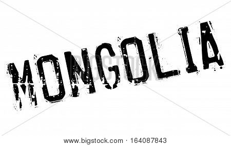 Mongolia stamp. Grunge design with dust scratches. Effects can be easily removed for a clean, crisp look. Color is easily changed.