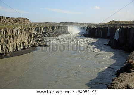The fantastic Selfoss Waterfall in Iceland. Europe