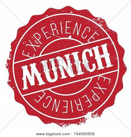 Munich stamp. Grunge design with dust scratches. Effects can be easily removed for a clean, crisp look. Color is easily changed.