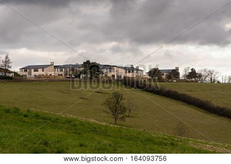 Bath UK - January 5 2017: Lansdown Ridge property development. New housing development by Charlcombe Homes showing position on ridge overlooking UNESCO World Heritage City