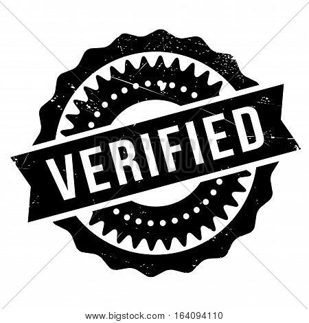 Verified stamp. Grunge design with dust scratches. Effects can be easily removed for a clean, crisp look. Color is easily changed.