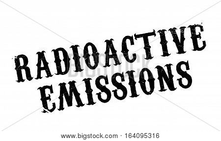 Radioactive Emissions rubber stamp. Grunge design with dust scratches. Effects can be easily removed for a clean, crisp look. Color is easily changed.