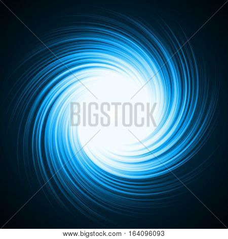 blue energy vortex effect with lines. abstract illustration.