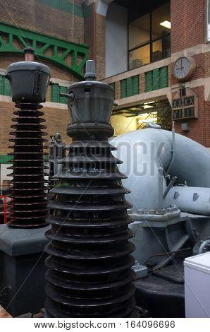 Ghent, Belgium - November 19, 2017: Old electricity power plant in Gent, Belgium