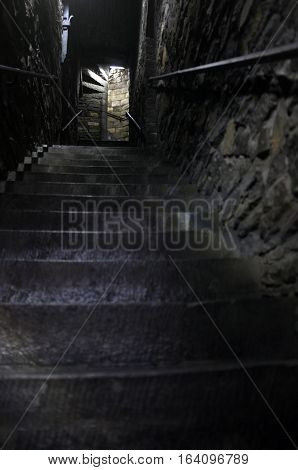 Concrete steps in the castle of Ghent
