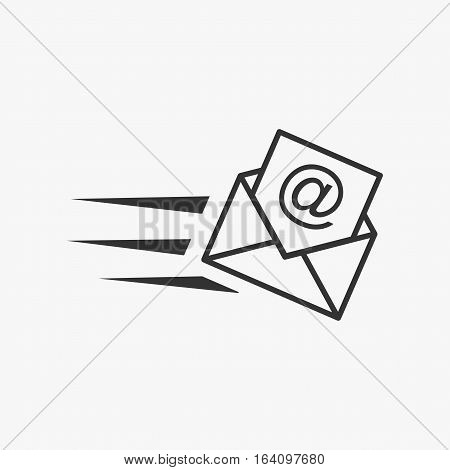 Email illustration. Email marketing. Sending email symbol. Inbox message.